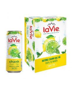 Nước LaVie Chanh Bạc Hà Lon 330ml Đà Nẵng